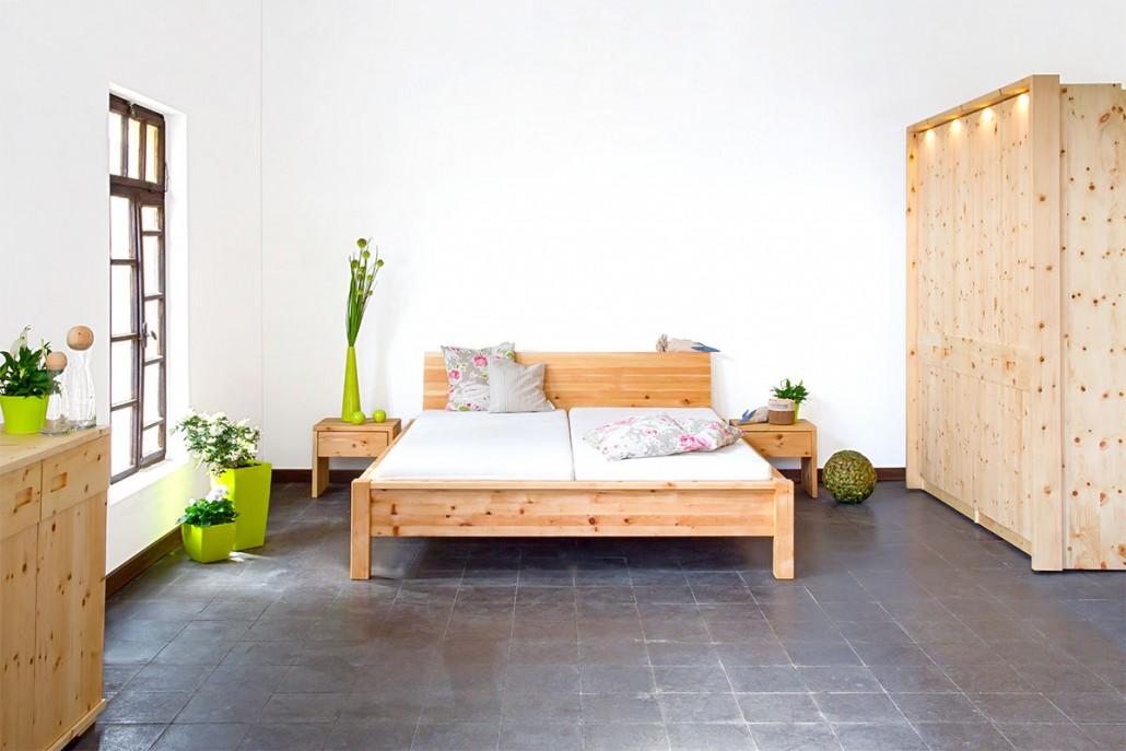 zirbenholz bett die holzartikel manufaktur On schlafzimmer zirbenholz